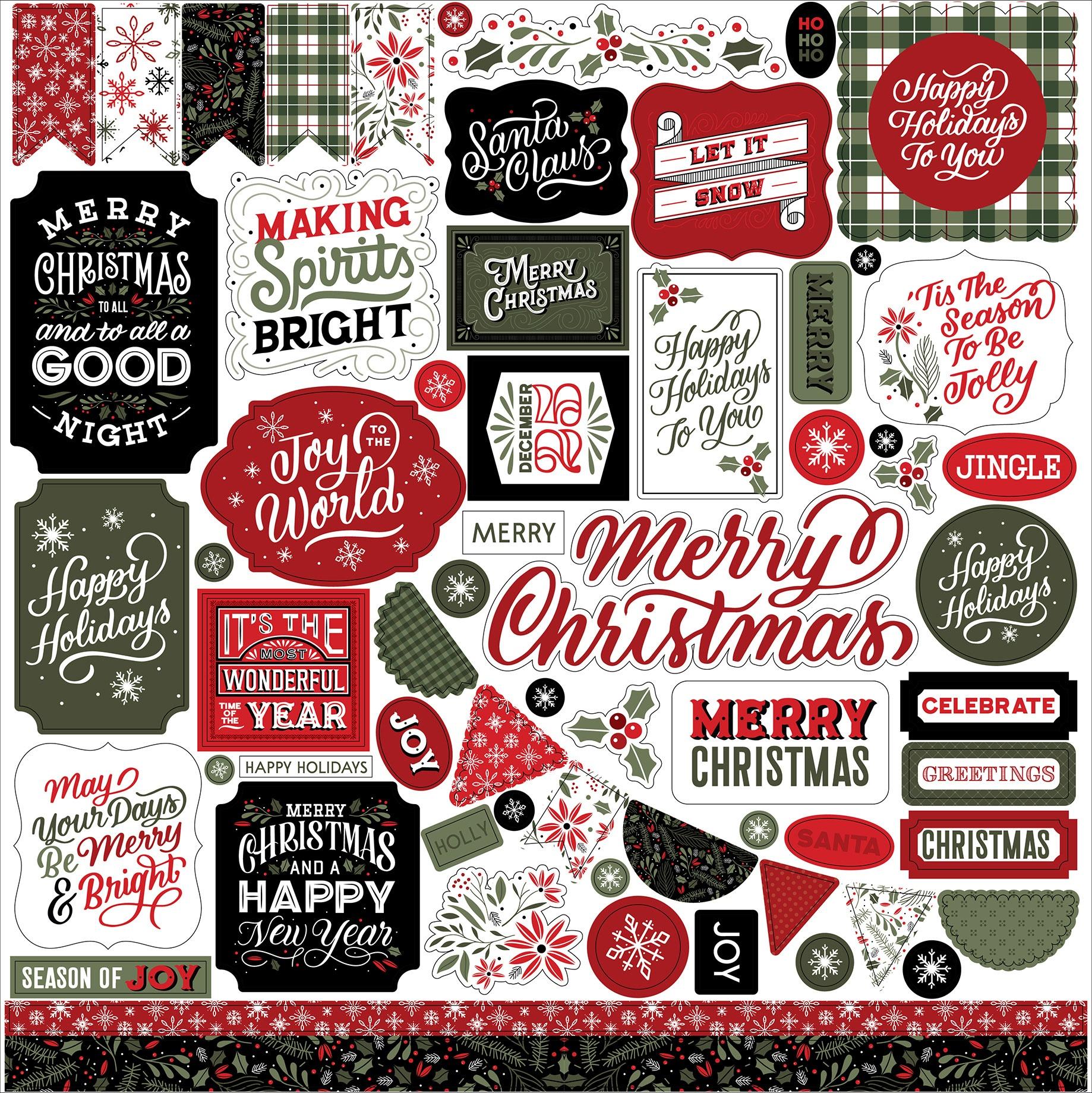 Echo Park - Christmas Salutations - Element Stickers