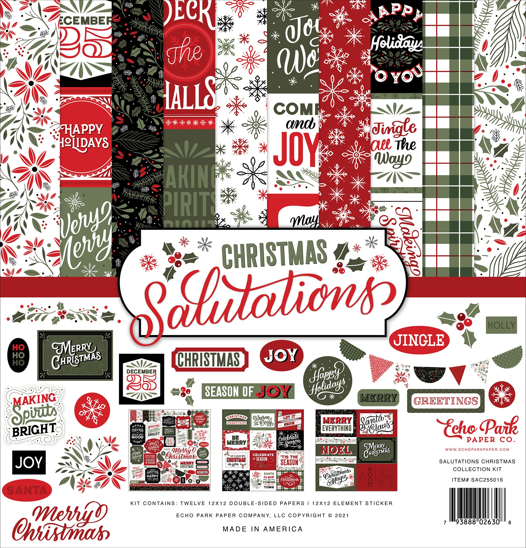 Echo Park - Christmas Salutations - 12x12 Collection Kit