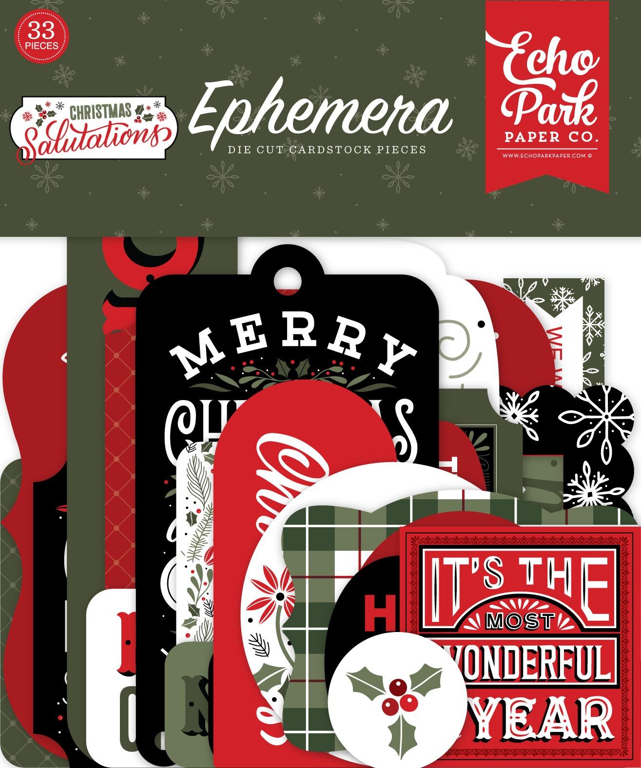 Echo Park - Christmas Salutations - Ephemera