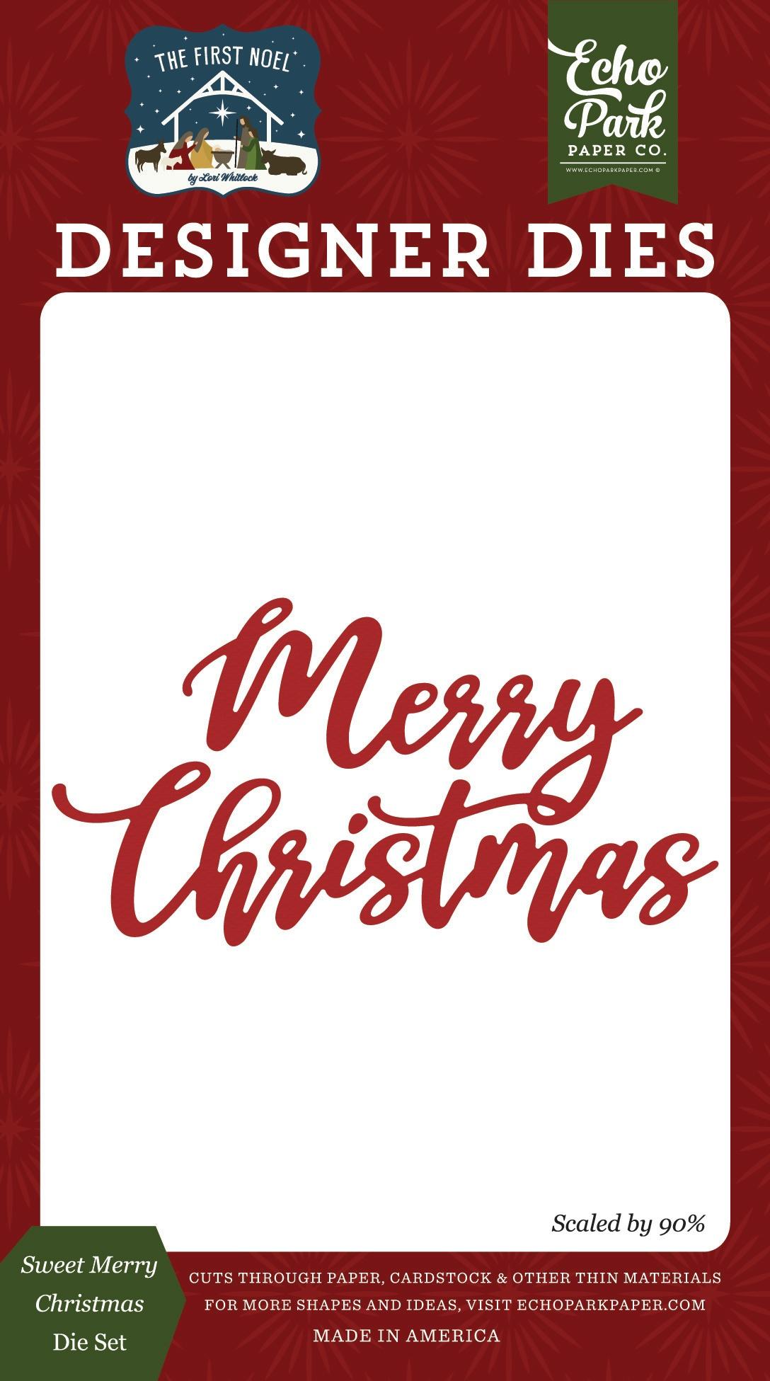 Sweet Merry Christmas Die