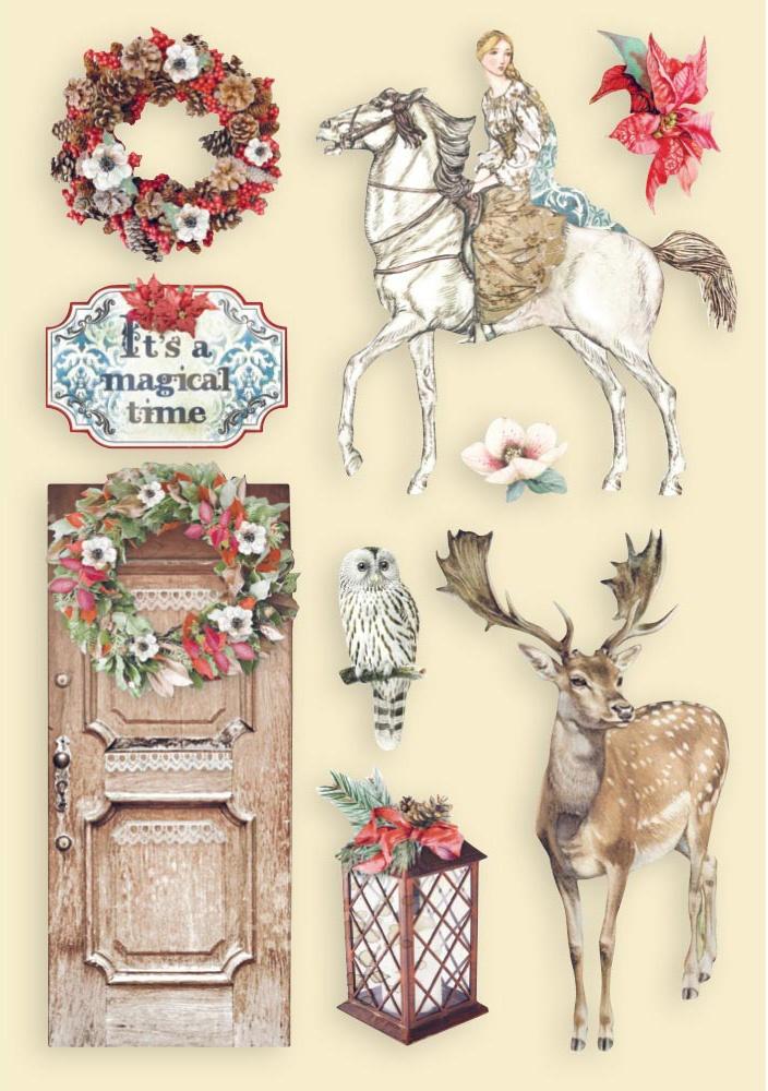 Winter Tales Horse & Deer - Wooden Shapes A5