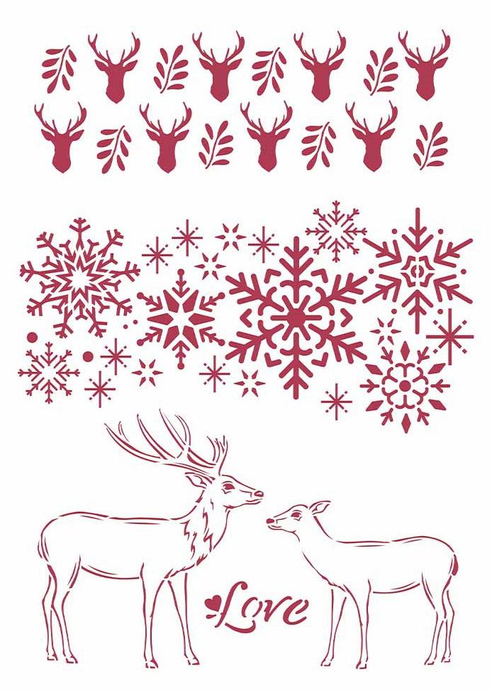Love - Winter Tales Stencil