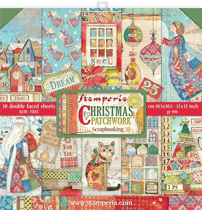 SP Double-Sided Paper Pad 12X12 10/Pkg-Christmas Patchwork
