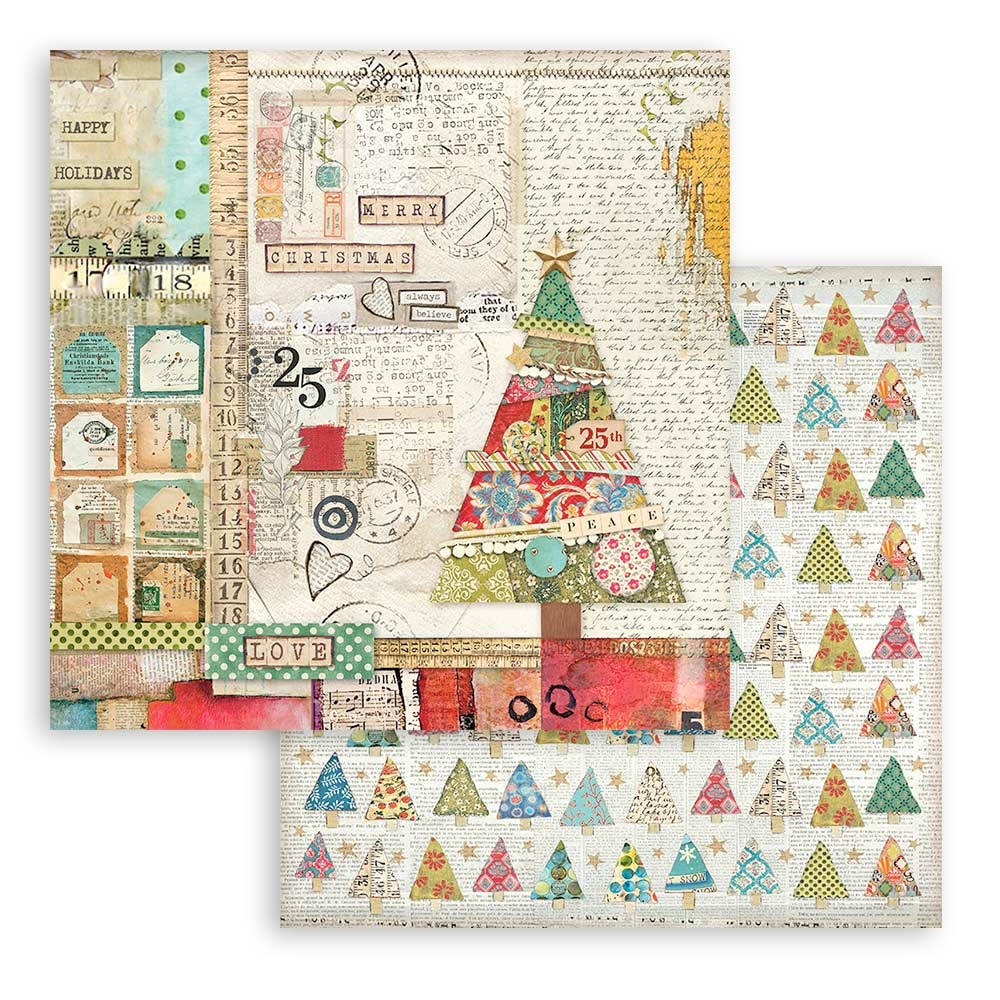 SP Double-Sided Paper Pad 6X6 10/Pkg-Christmas Patchwork, 10 Designs