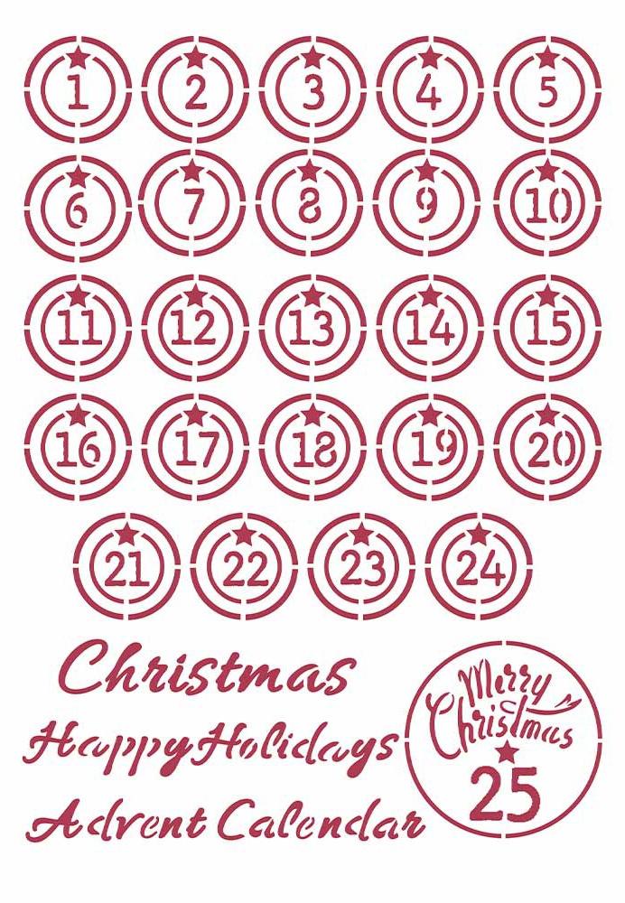 Advent - Christmas Patchwork Stencil