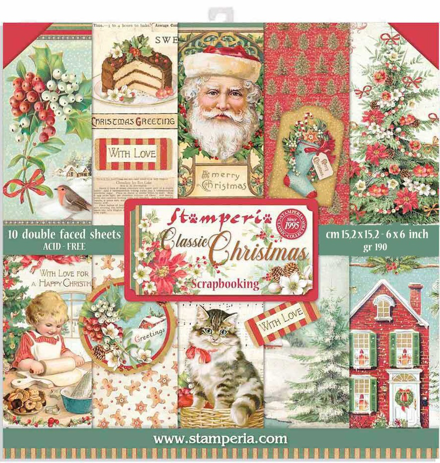 SP Double-Sided Paper Pad 6X6 10/Pkg-Classic Christmas