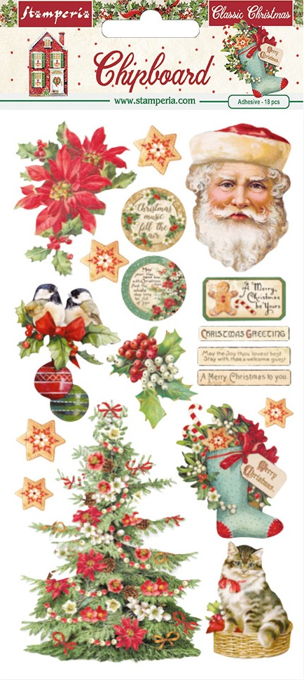 Classic Christmas Chipboard