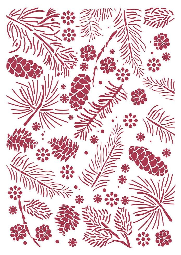 Pinecones - Classic Christmas Stencil