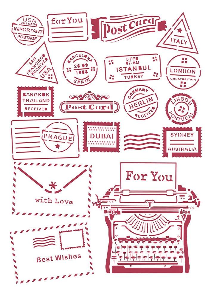 Typewriter - Romantic Christmas Stencil