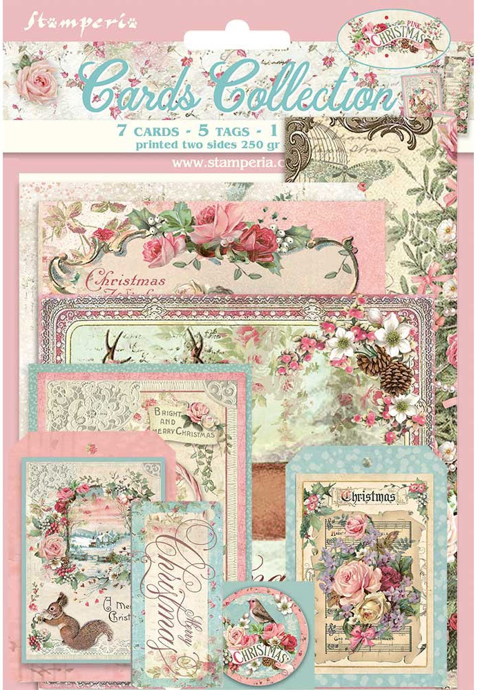 Pink Christmas - Cards Collection