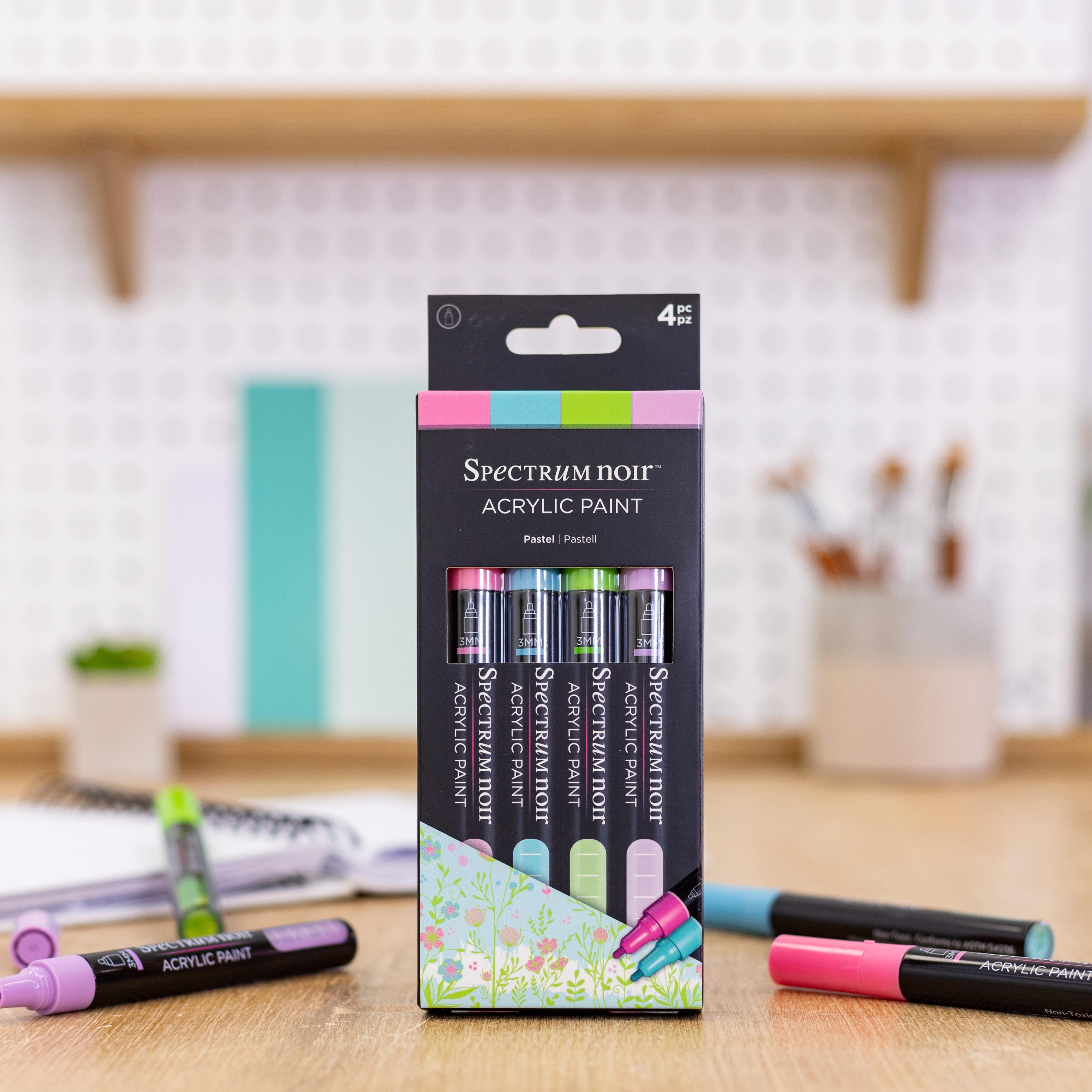 Spectrum Noir Acrylic Paint Marker Set 4/Pkg-Pastel