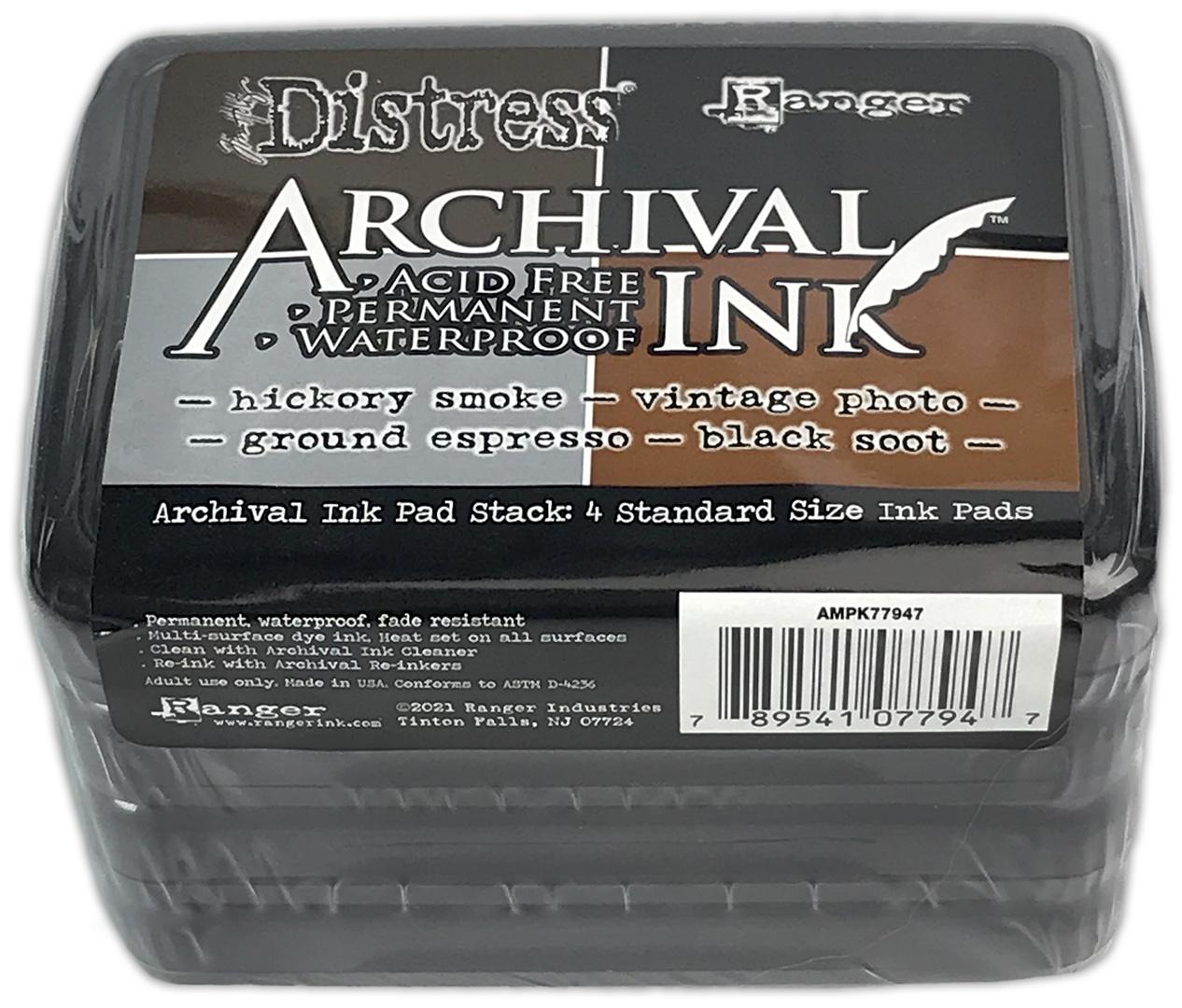 Tim Holtz Distress Archival Ink Pad Stack-Basics