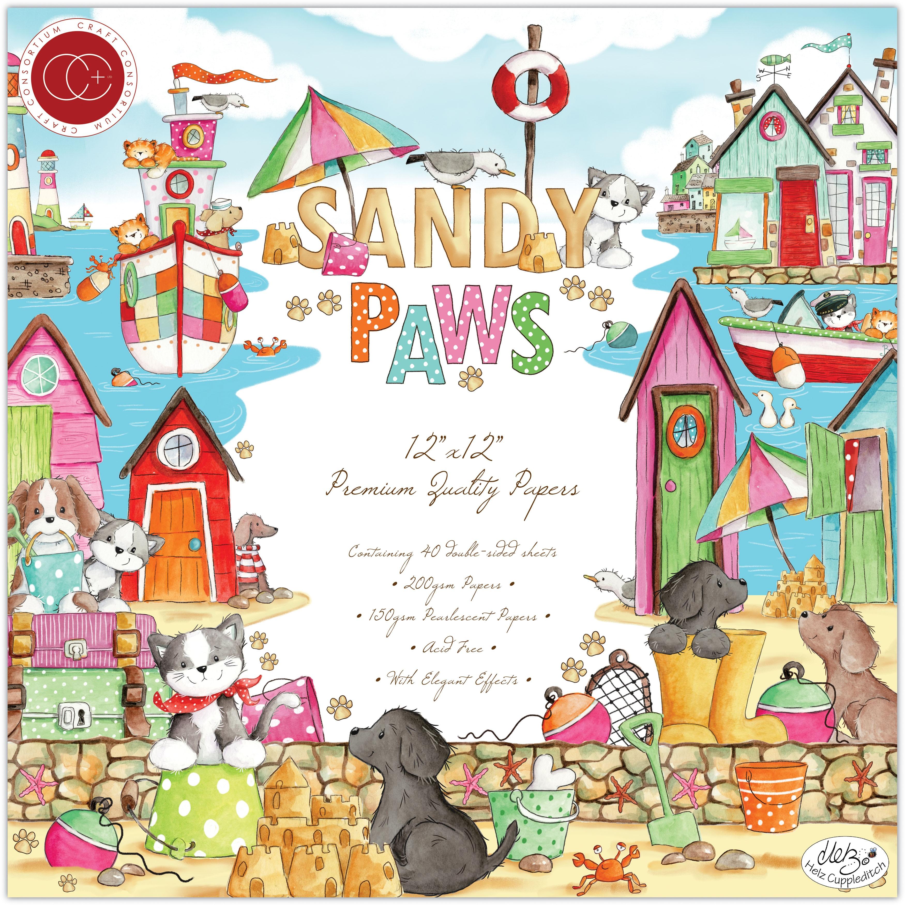 Craft Consortium - Sandy Paws - 12x12 Paper Pad