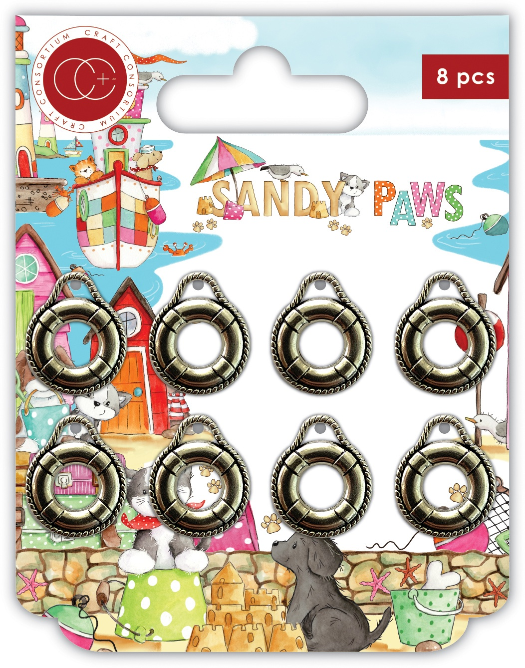 Craft Consortium - Sandy Paws - Life Ring Charms