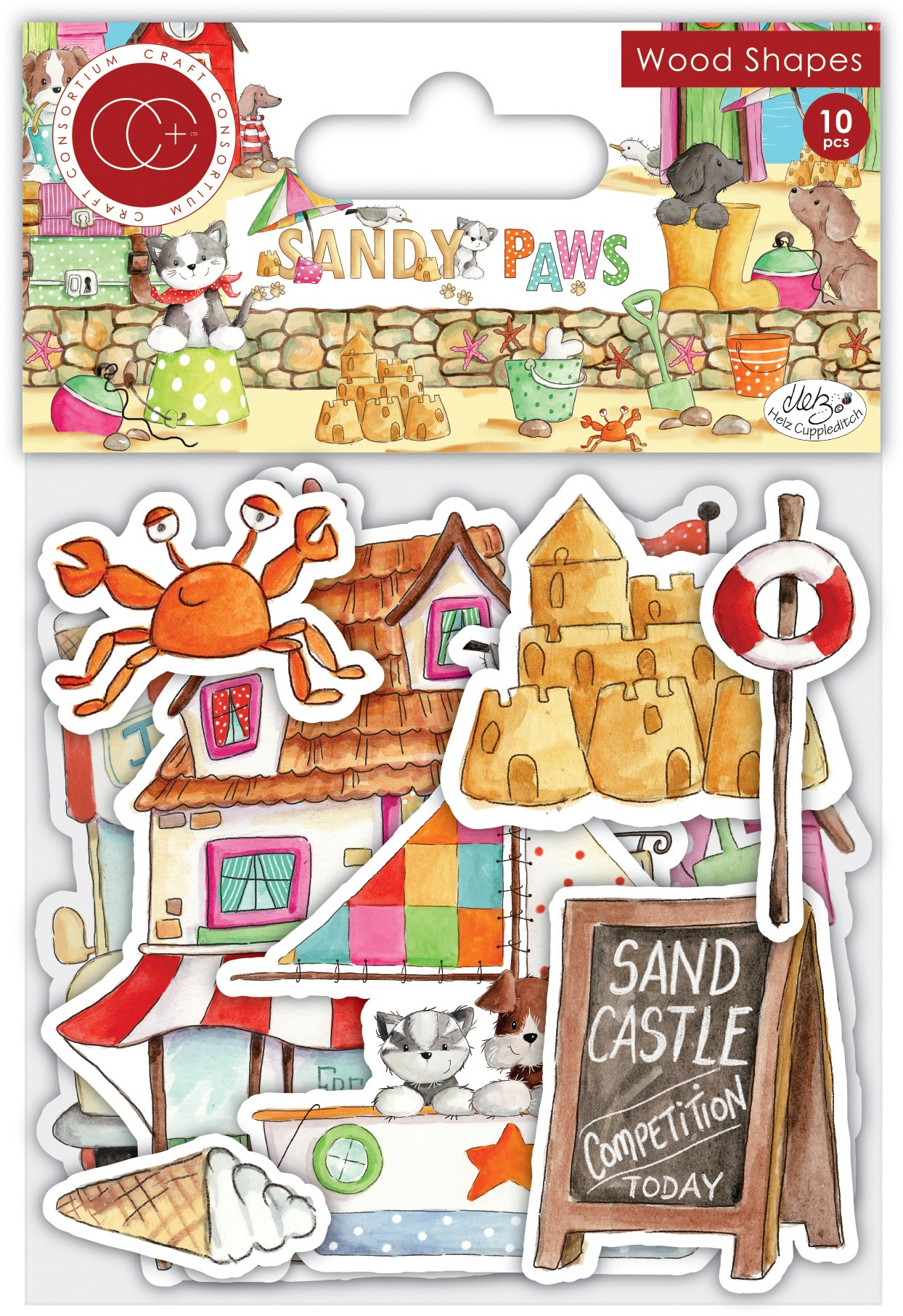 Craft Consortium - Sandy Paws - Wood Shapes