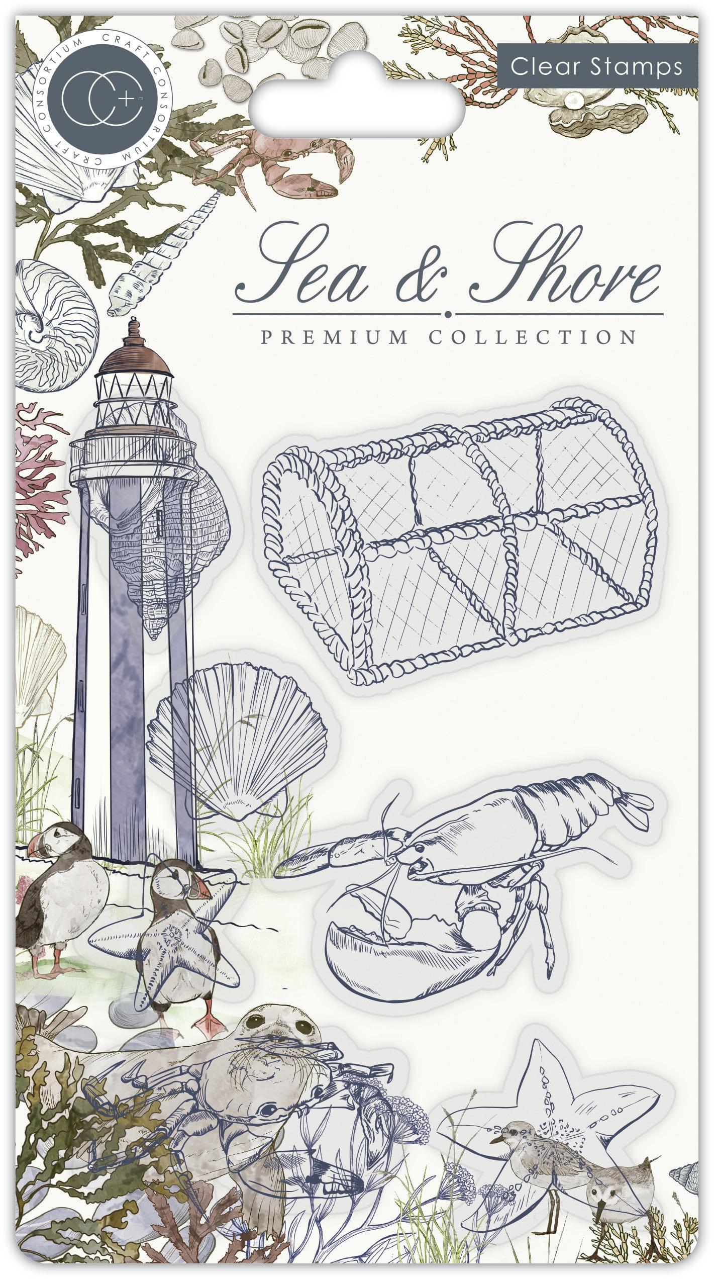 Craft Consortium - Sea & Shore - Clear Stamps - Sea