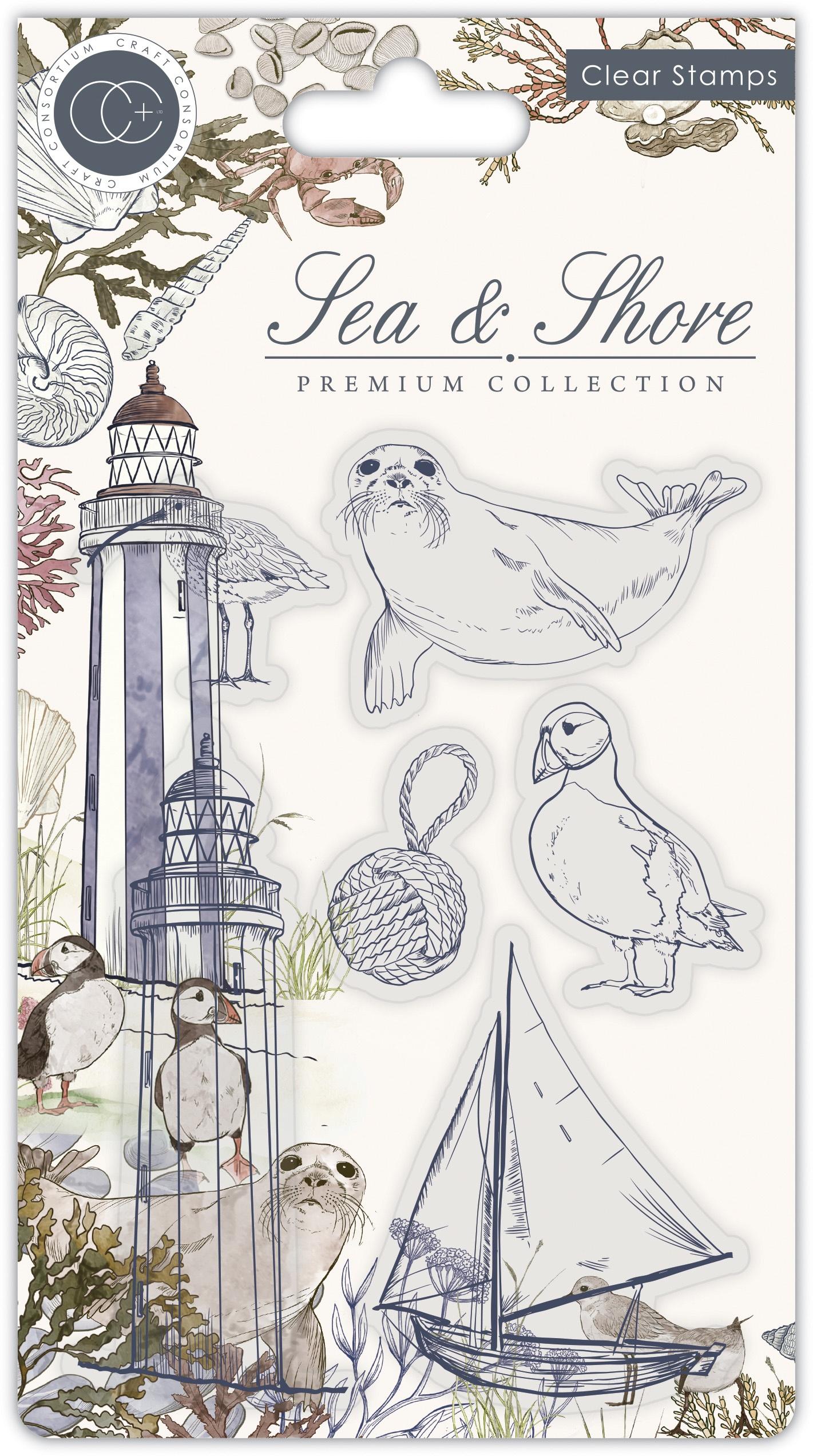 Craft Consortium - Sea & Shore - Clear Stamps - Shore