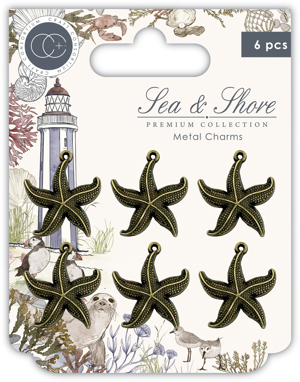 Craft Consortium - Sea & Shore - Star Fish Charms