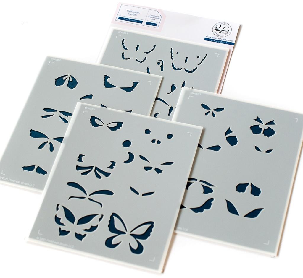 Pinkfresh Studio Stencils Small Butterflies
