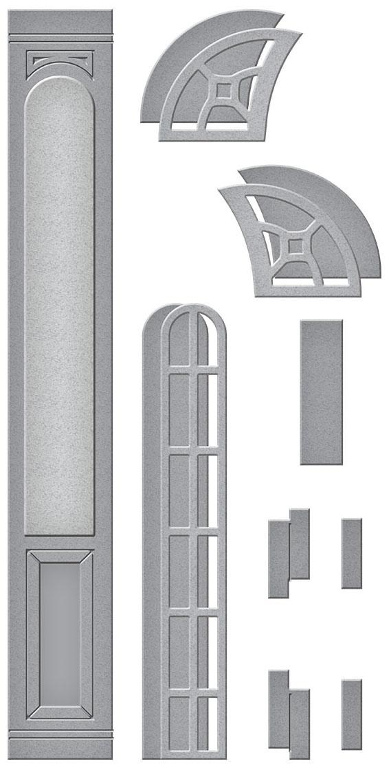 Spellbinders Etched Dies-Open House Door Side Panel