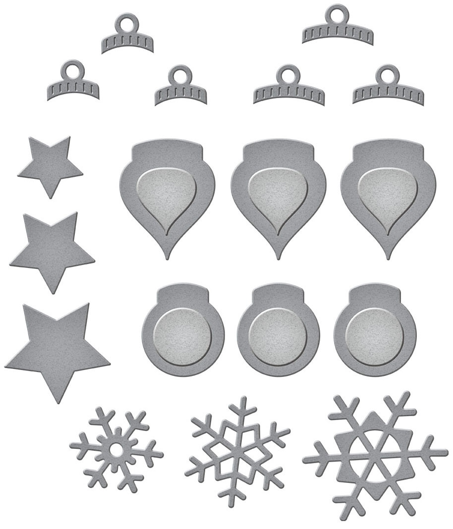 Spellbinders Etched Dies-Holiday Decorations