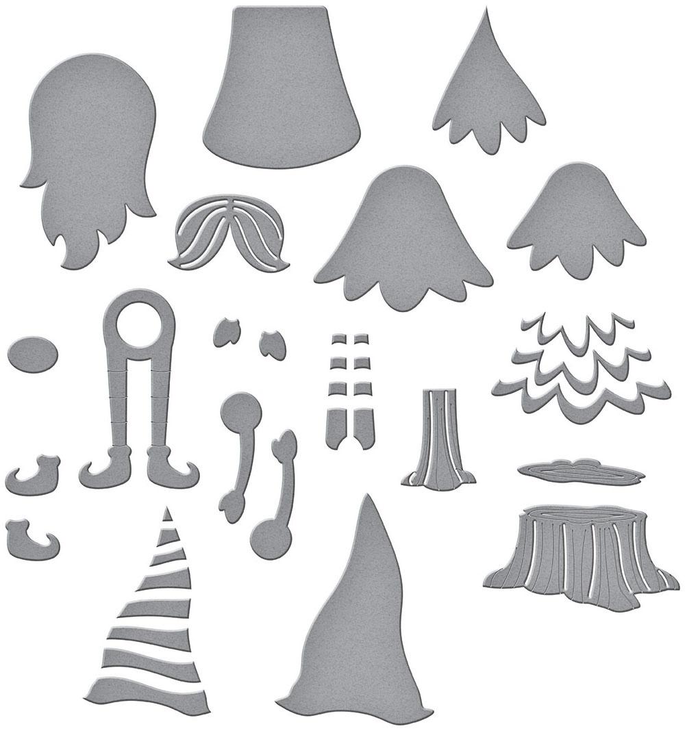Spellbinders Etched Dies-Dancin' Gnome