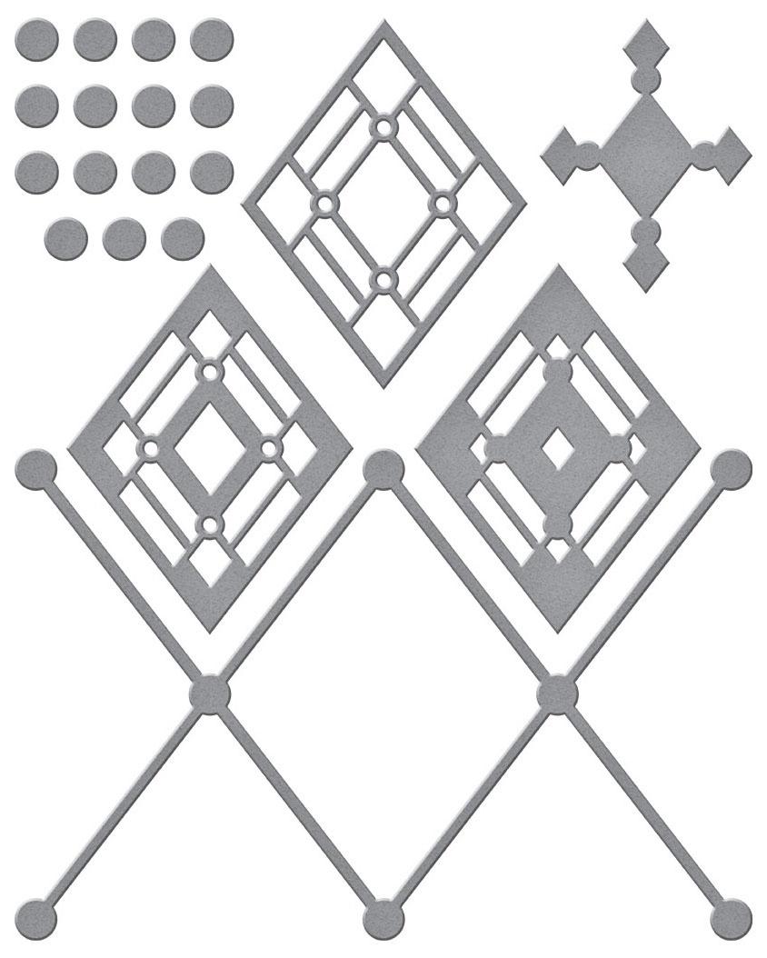 Spellbinders Etched Dies-Kaleidoscope Argyle