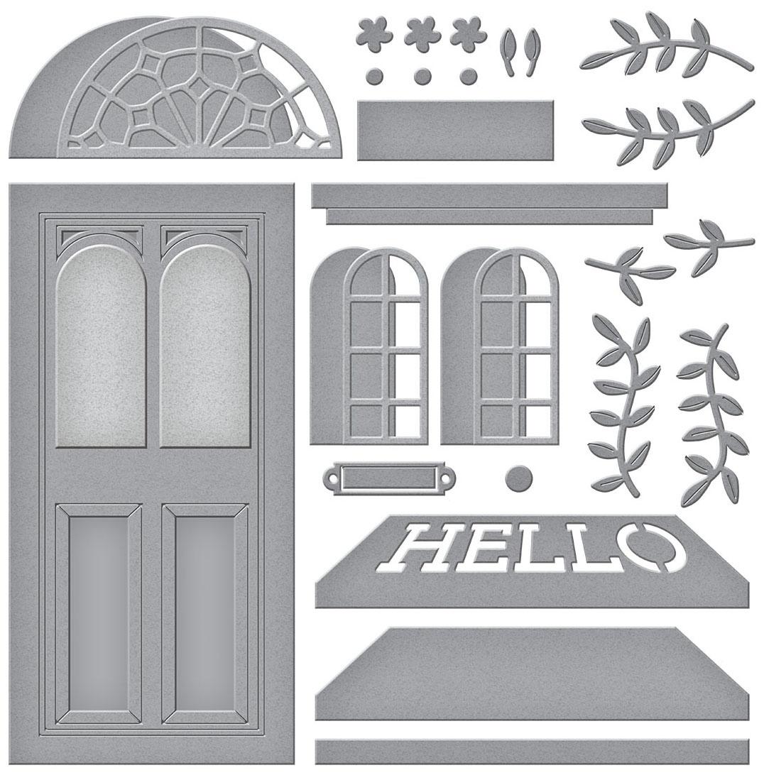 Spellbinders Etched Dies-Open House Door Base