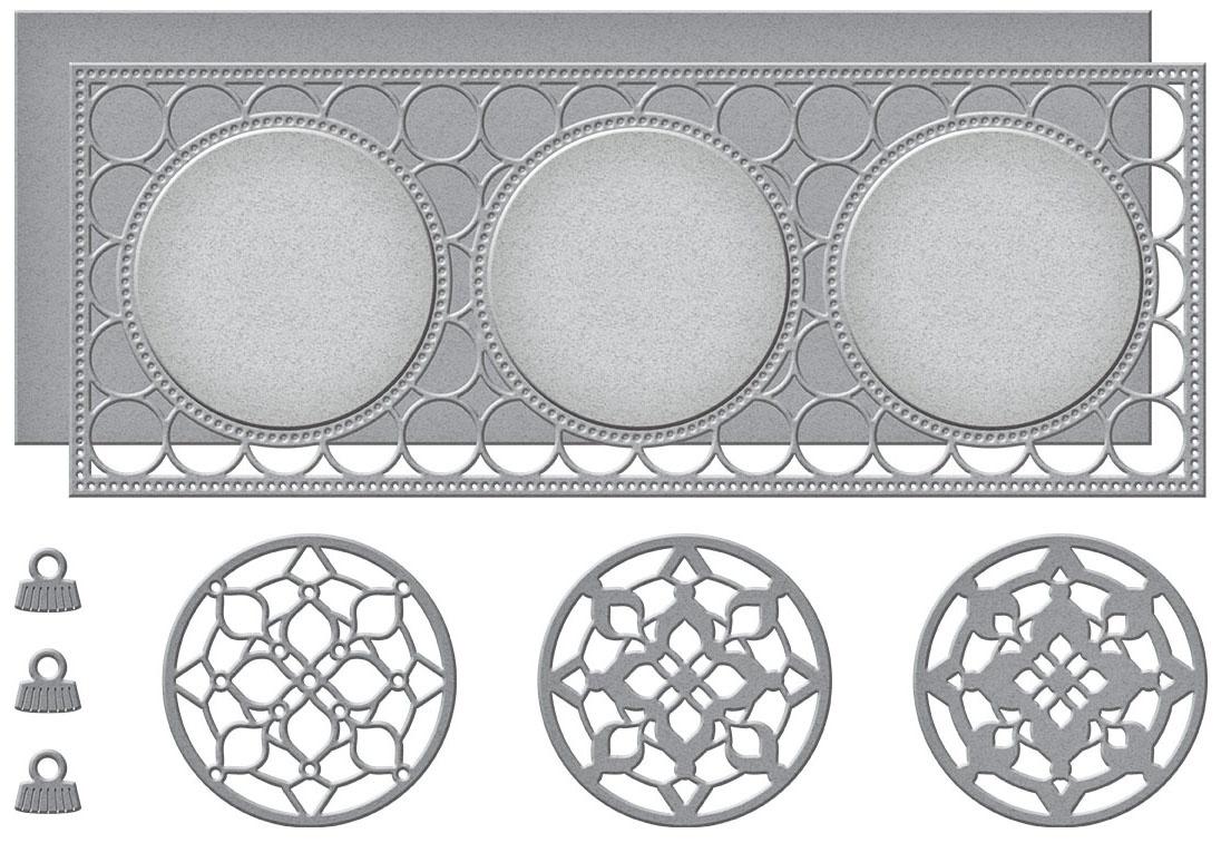 Spellbinders Etched Dies-Circle Kaleidoscope Slimline