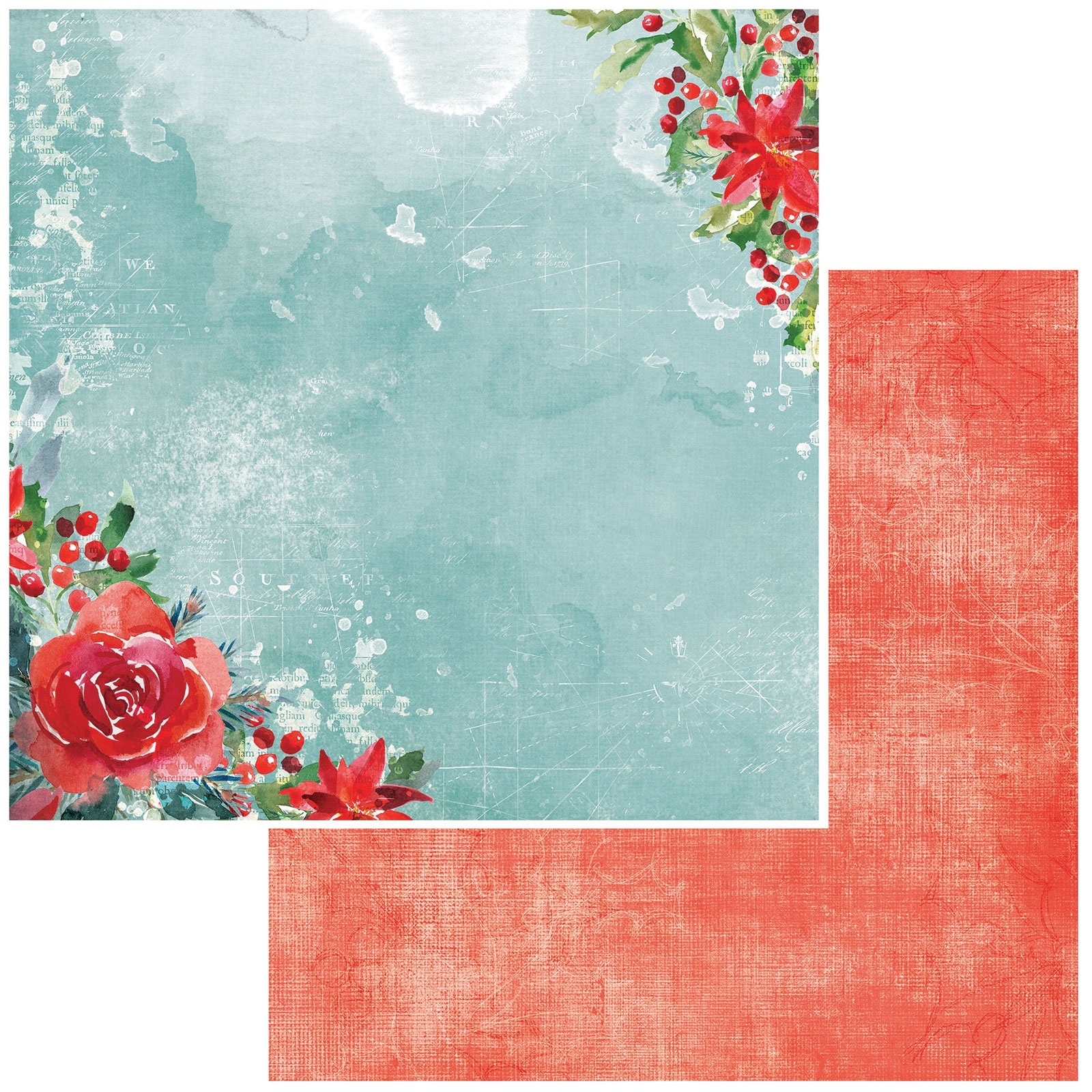 Peace & Joy Double-Sided Cardstock 12X12-Wishes