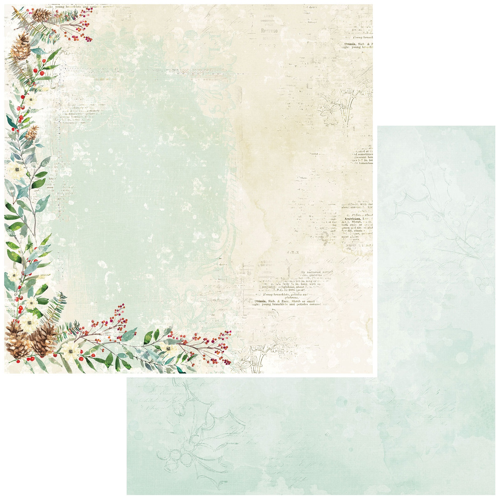 49 And Market - Vintage Artistry Peace & Joy - YULETIDE - 12x12 Double-Sided Paper