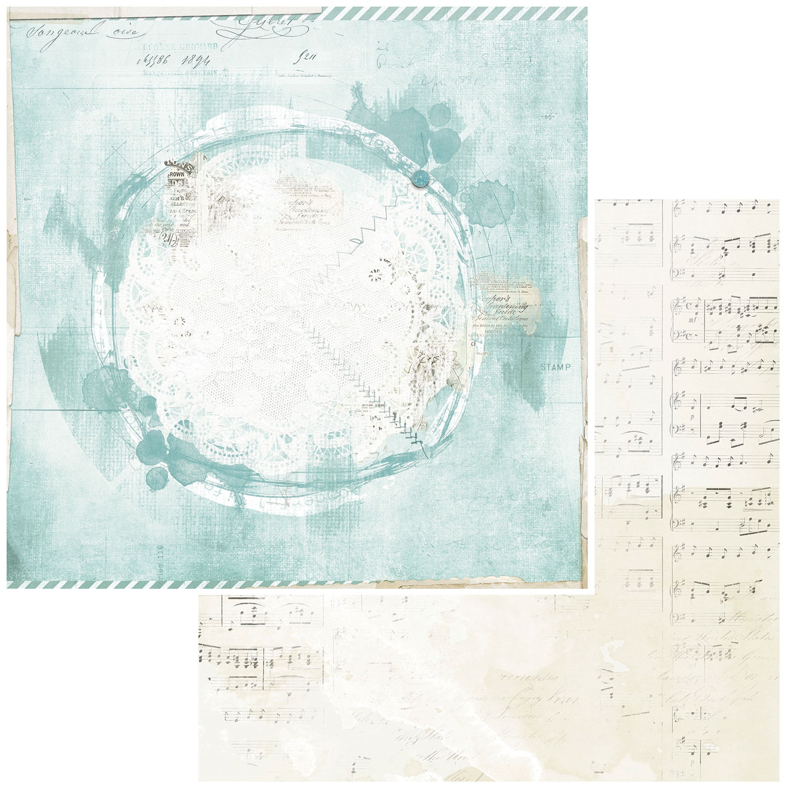 49 And Market - Vintage Artistry Peace & Joy - NORTHPOLE - 12x12 Double-Sided Paper