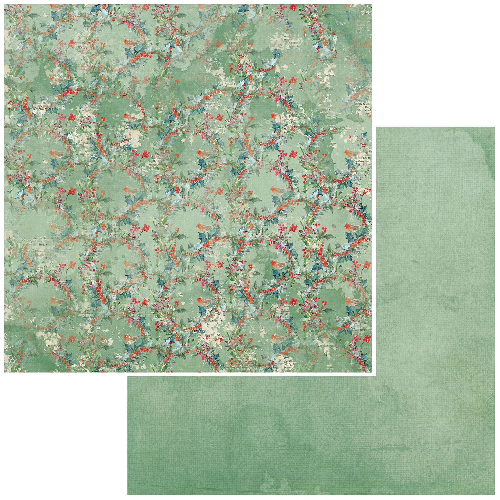 49 And Market - Vintage Artistry Peace & Joy - HOLLY - 12x12 Double-Sided Paper