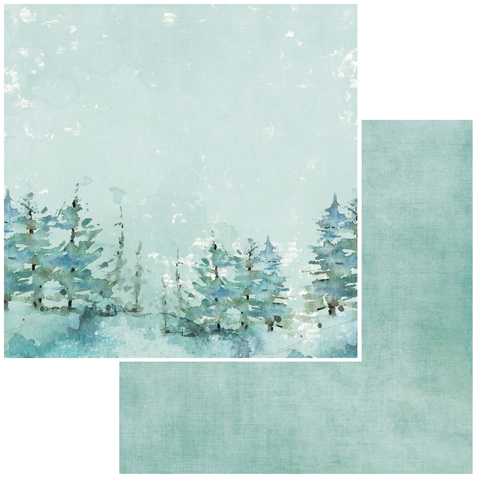 49 And Market - Vintage Artistry Peace & Joy - TREETOPS - 12x12 Double-Sided Paper
