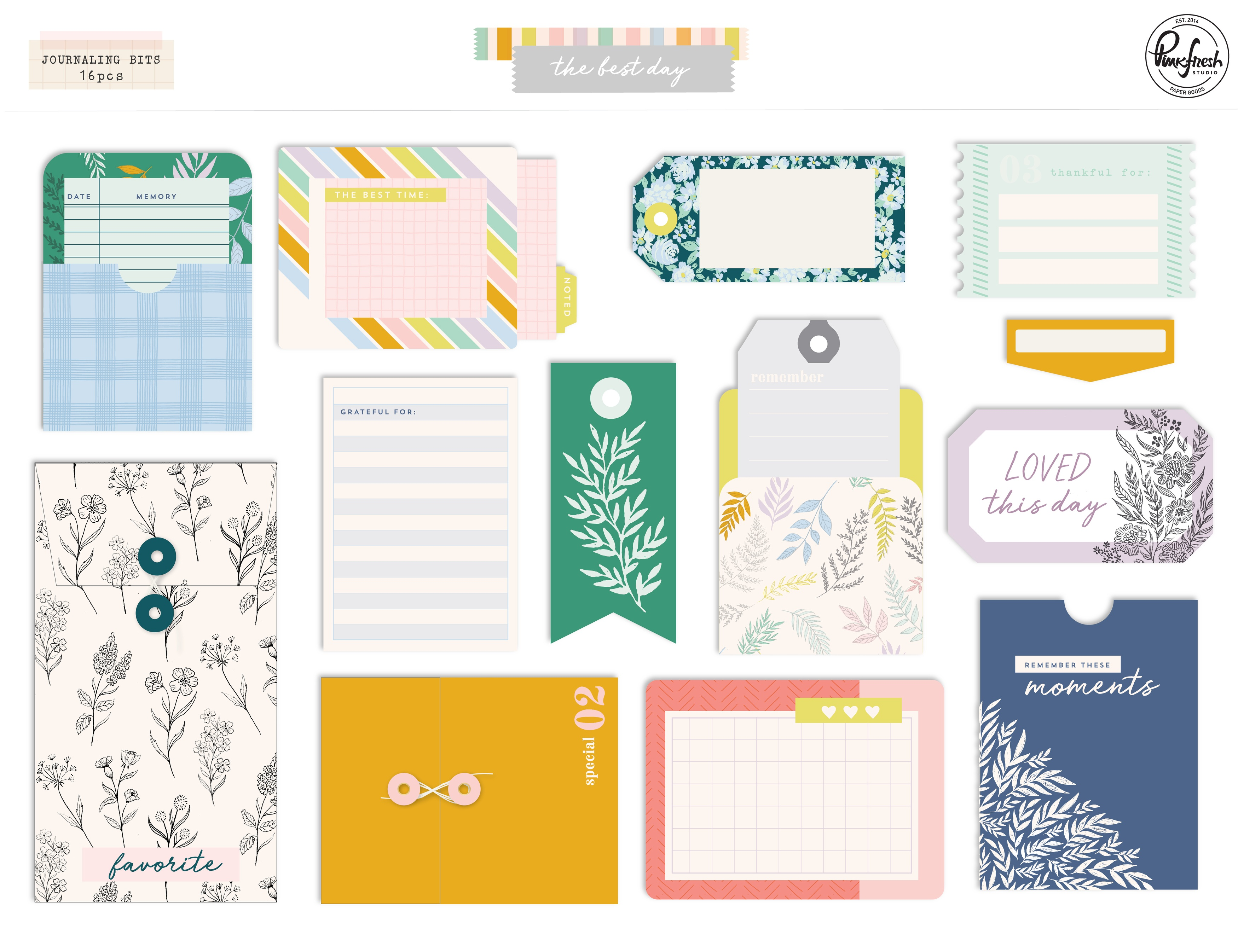 The Best Day Journaling Bits 14/Pkg