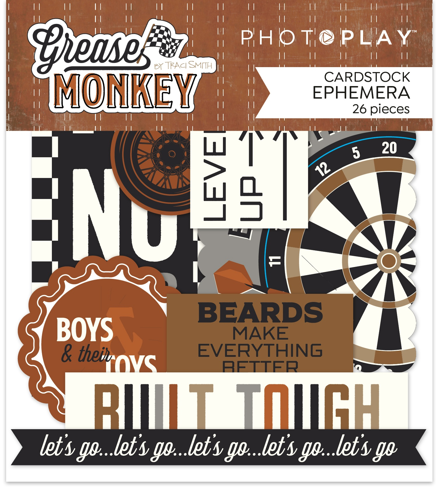 PhotoPlay - Grease Monkey  - Cardstock Ephemera