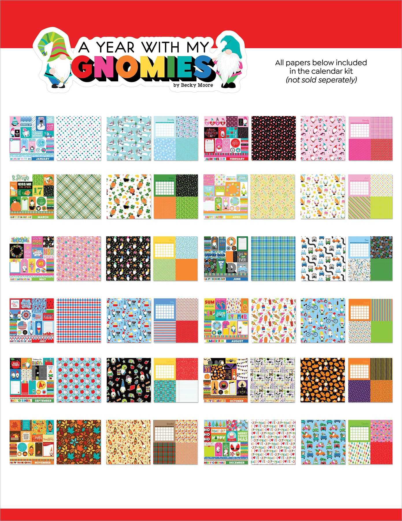 PhotoPlay A Year with My Gnomies Collection Pack