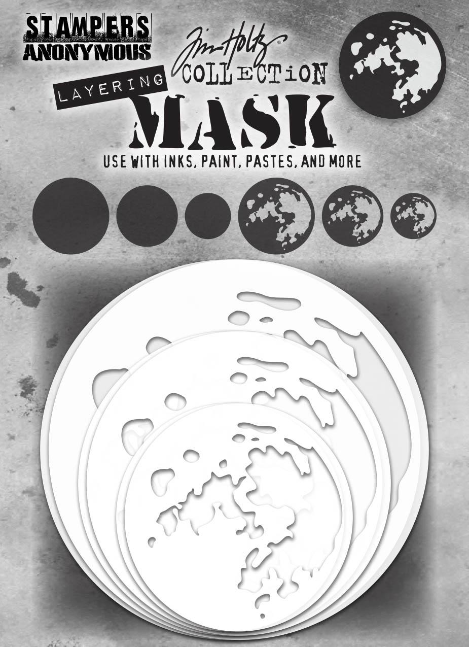 Tim Holtz - Moon Layering Mask Set (6 pack)