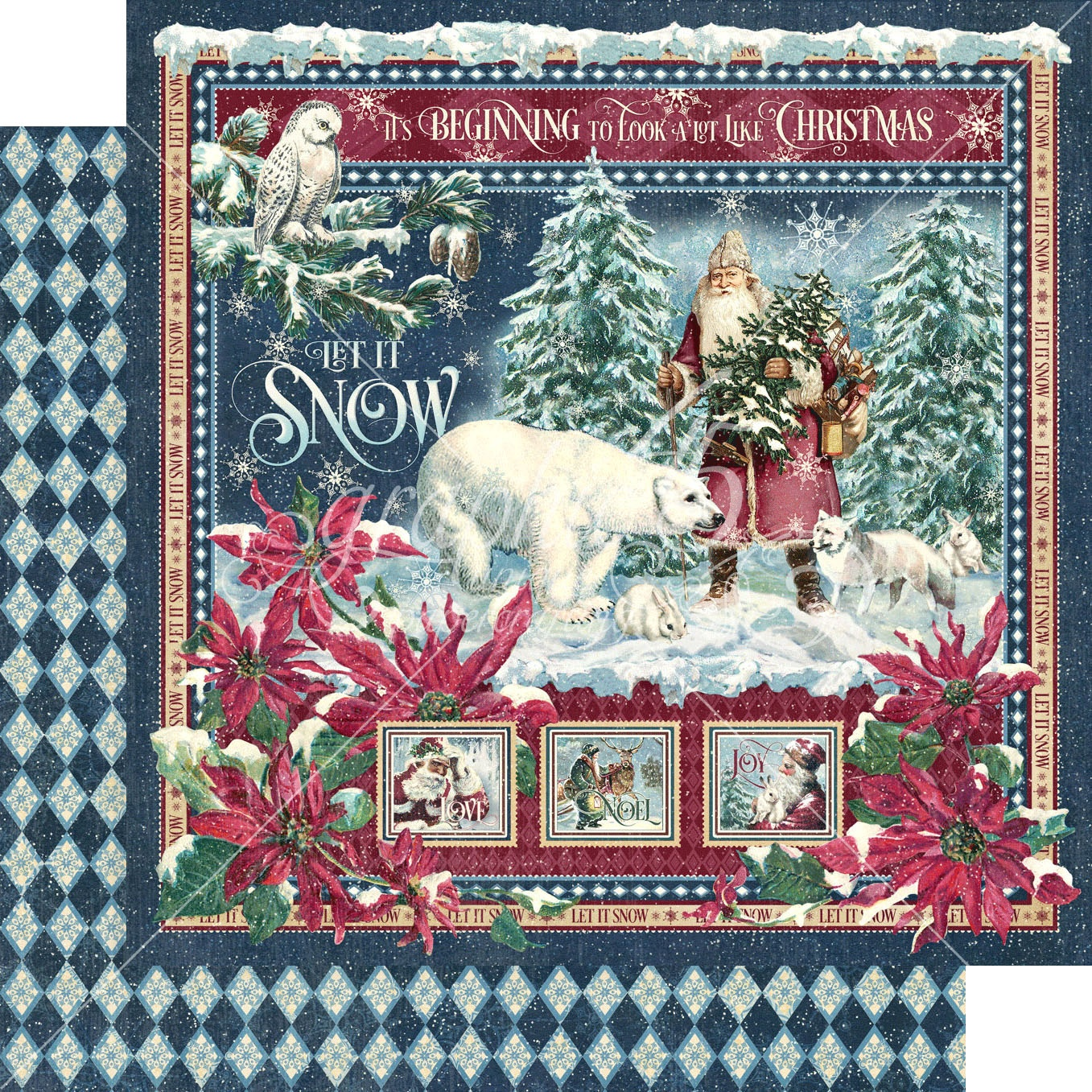 Let It Snow Double-Sided Cardstock 12X12-Let It Snow