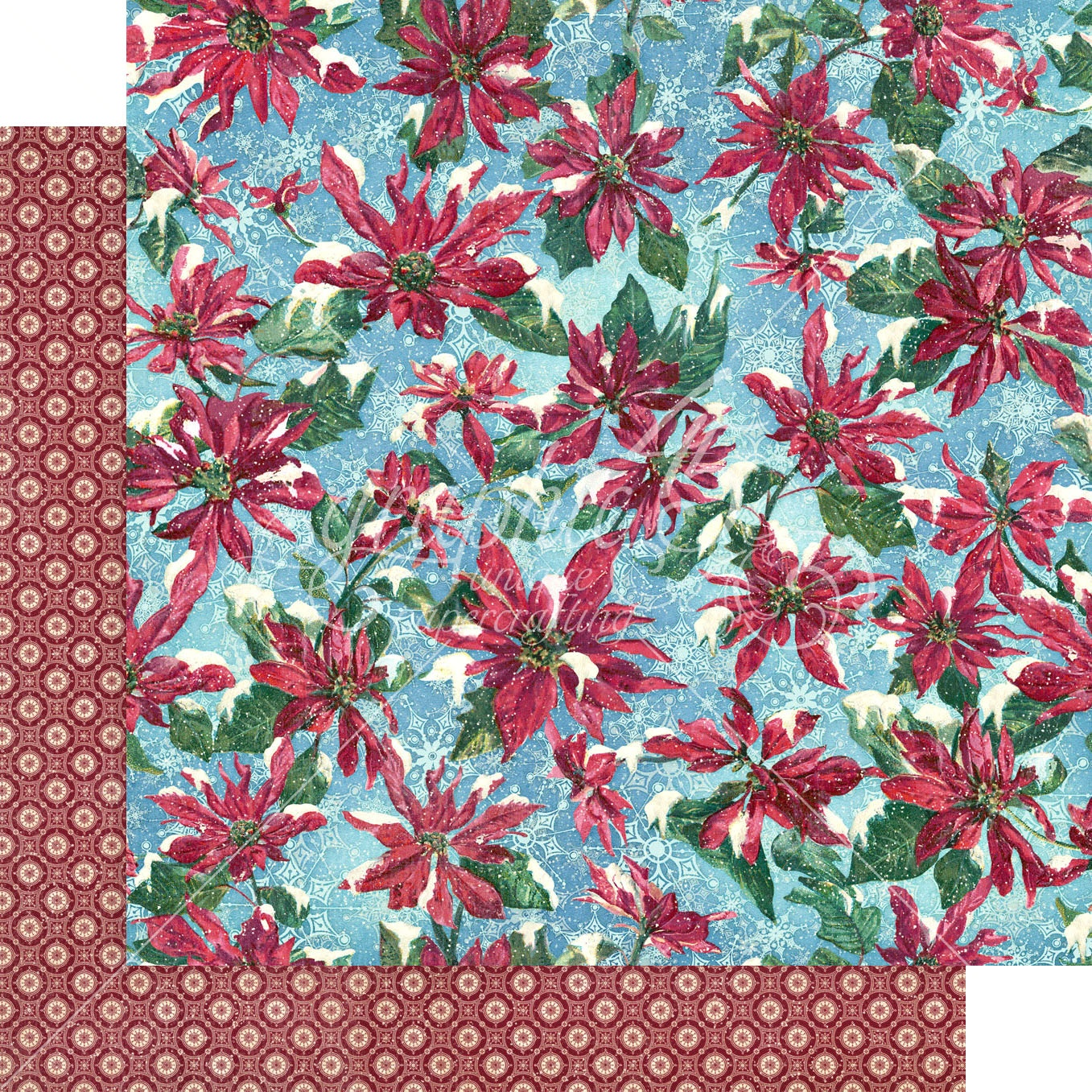 Let It Snow Double-Sided Cardstock 12X12-Poinsettia Parade