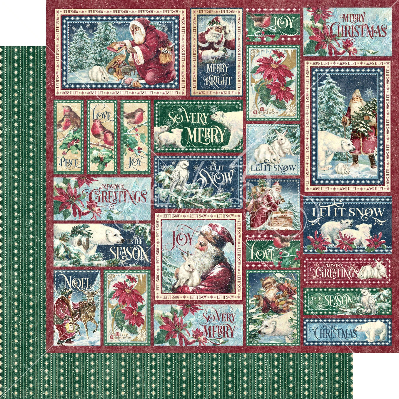 Let It Snow Double-Sided Cardstock 12X12-So Very Merry