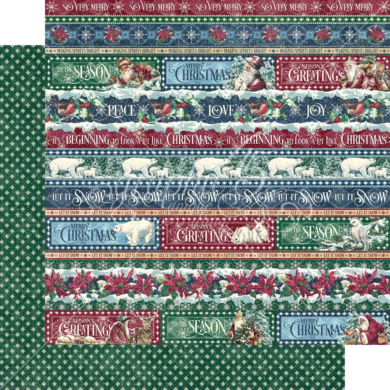 Let It Snow Double-Sided Cardstock 12X12-Joyful Tidings