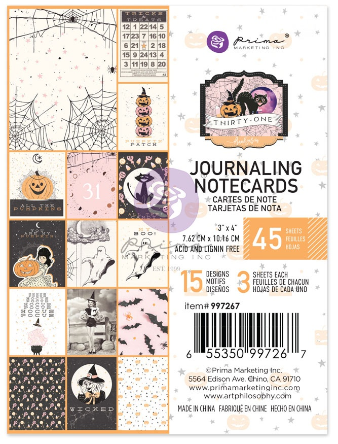 Thirty-One By Frank Garcia Journaling Cards 3X4 45/Pkg-15 Designs/3 Each
