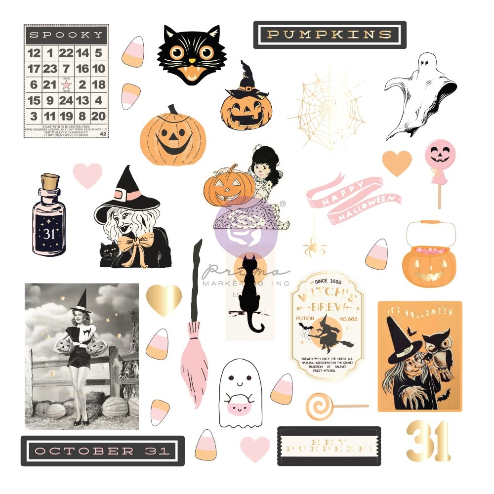 Thirty-One By Frank Garcia Cardstock Ephemera 35/Pkg-Shapes, Tags, Words, Foiled Accents
