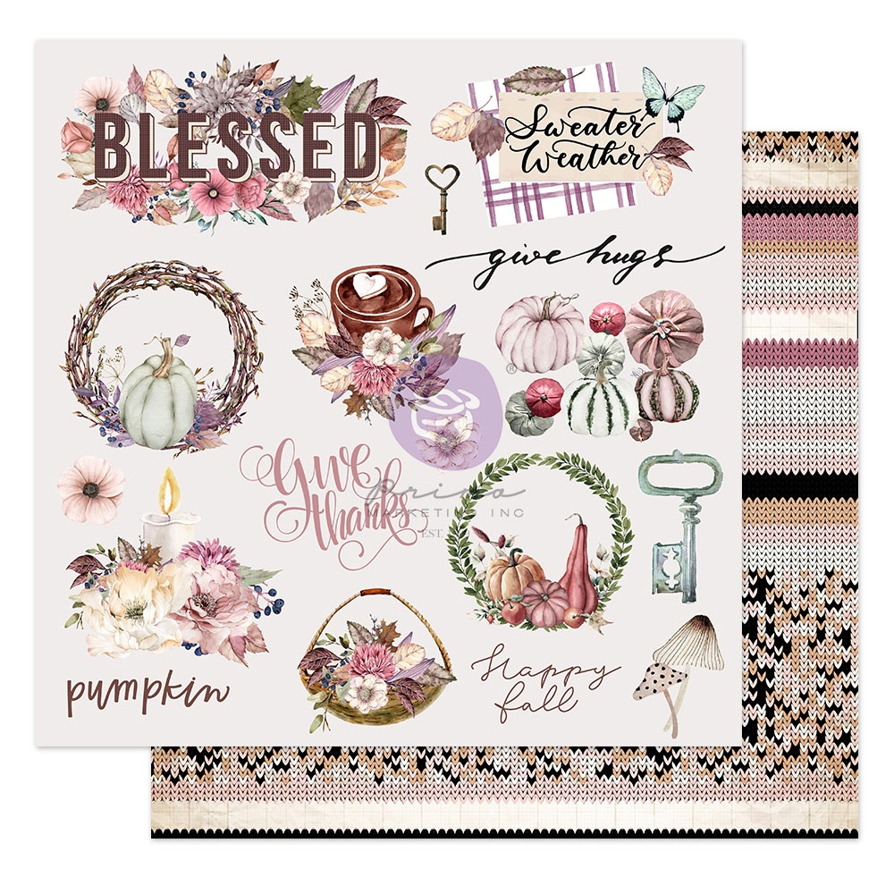 COLLECTION: Hello Pink Autumn Double-Sided Cardstock 12X12