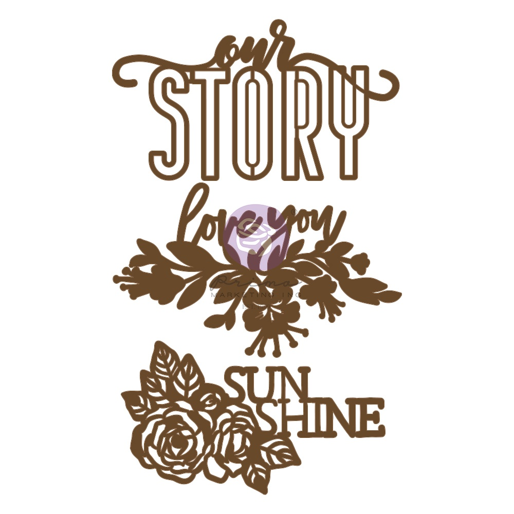 Our Story Chipboard 3/Pkg