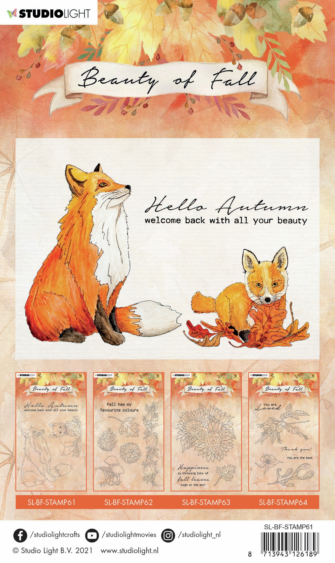 Beauty Of Fall Clear Stamp-NR 61 Foxes