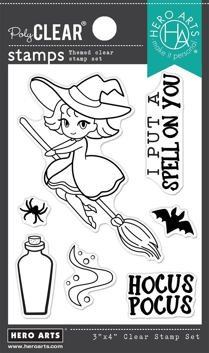 Hero Arts Cling Stamp-Hocus Pocus