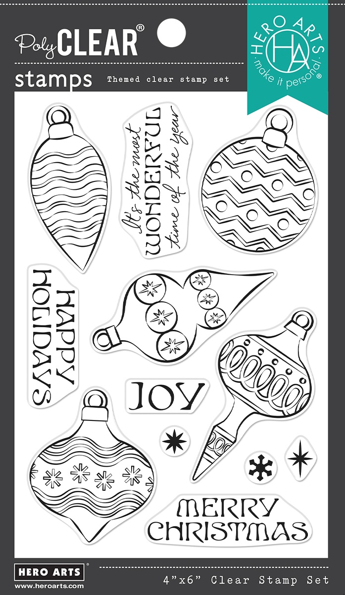 Hero Arts - Holiday Ornaments Clear Stamps