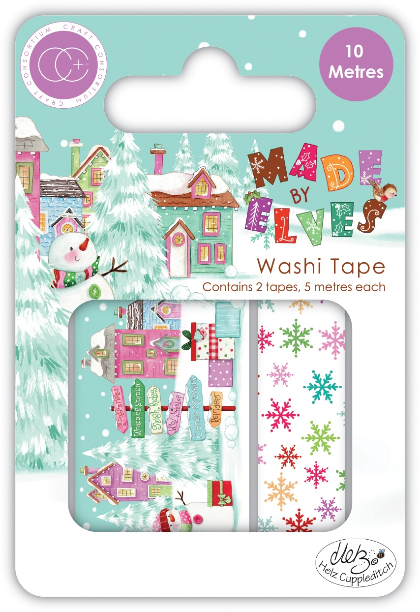 Craft Consortium Washi Tape 2pc - Made By Elves